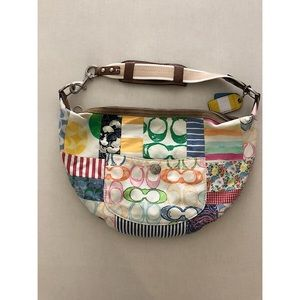 CLEARANCE  Coach Rainbow Patchwork Shoulder Bag